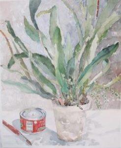 Akvarel af kaktus